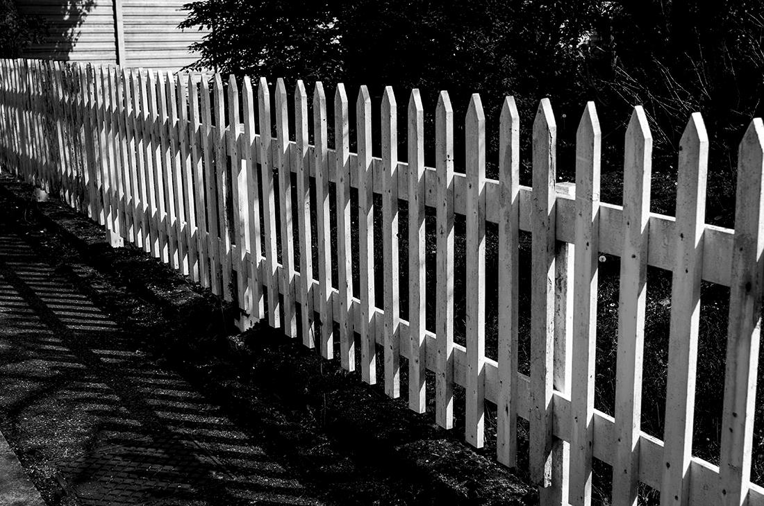 Staccionata Bianca In Legno la mia white fence